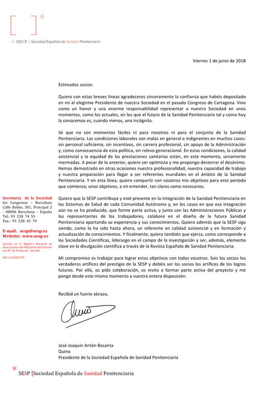 Carta nuevo presidente